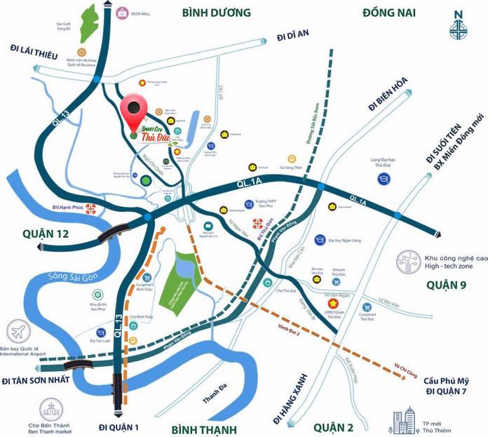 Vị trí đất nền Smart City Thủ Đức