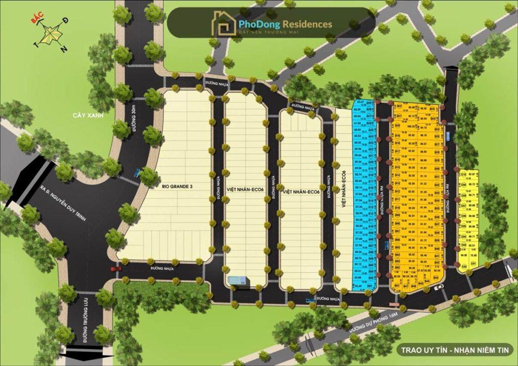 Bản đồ phân lô Phố Đông Residences