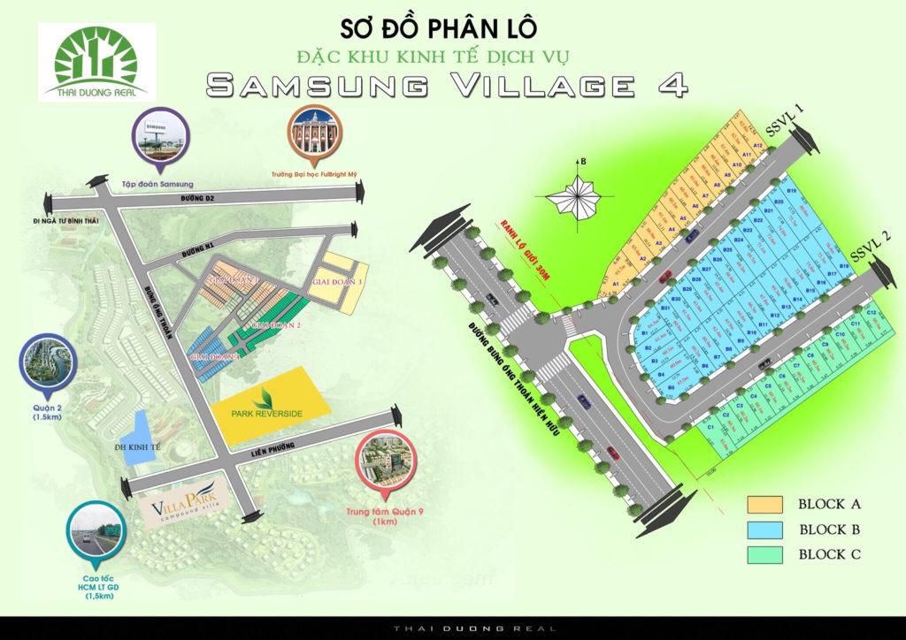 Bản đồ phân lô dự án Samsung Village 4
