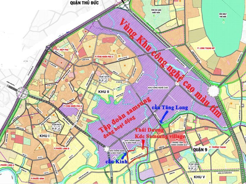vị trí dự án đất nền Samsung Village