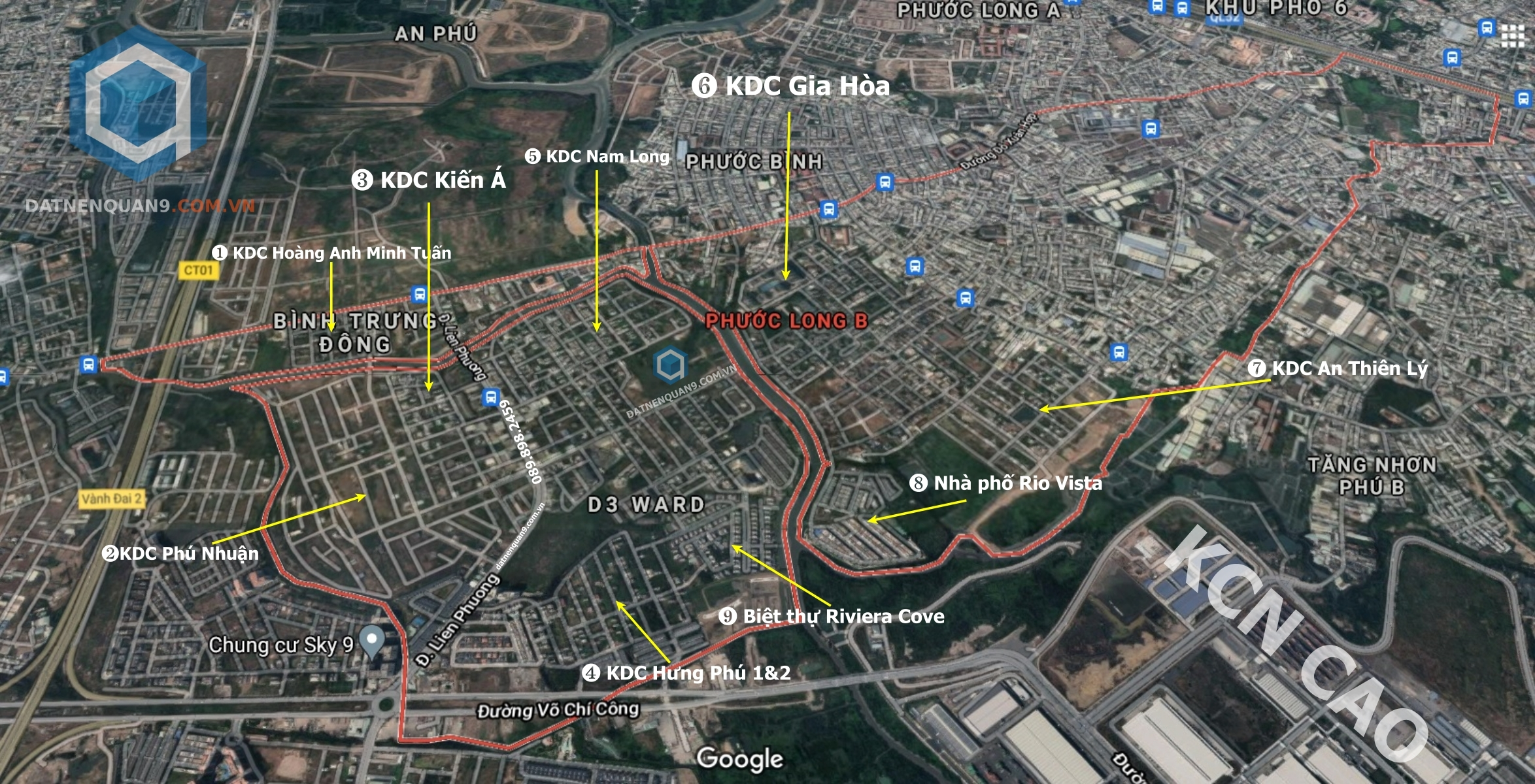 Danh sách các dự án đất nền phường Phước Long B, Quận 9